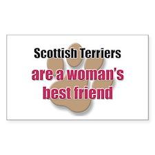 Scottish Terriers woman's best friend Decal
