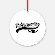 Policeman's Mom Ornament (Round)