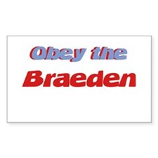 Obey the Braeden Rectangle Decal