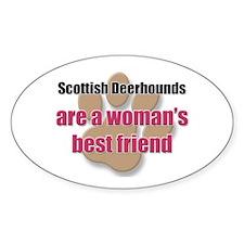 Scottish Deerhounds woman's best friend Decal