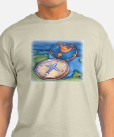 Airplane Compass T-Shirt