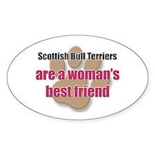 Scottish Bull Terriers woman's best friend Decal