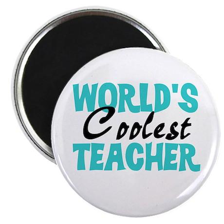 "World's Coolest Teacher 2.25"" Magnet (10 pack)"