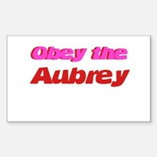 Obey the Aubrey Rectangle Decal