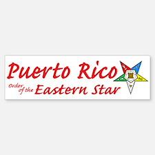 Puerto Rico Eastern Star Bumper Bumper Bumper Sticker