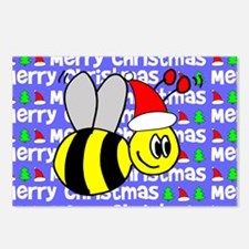 Christmas Bumble Bees Postcards (Package of 8)