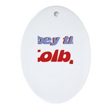 Obey the Colby Oval Ornament