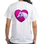 Arabian Horse Heart White T-Shirt