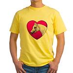 Arabian Horse Heart Yellow T-Shirt