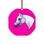 Arabian Horse Heart Ornament (Round)