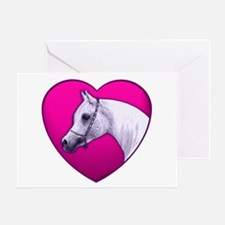 Arabian Horse Heart Greeting Card