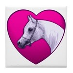 Arabian Horse Heart Tile Coaster