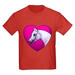 Arabian Horse Heart Kids Dark T-Shirt