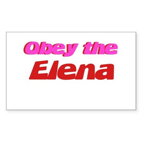 Obey the Elena Rectangle Sticker