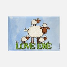 love ewe Rectangle Magnet