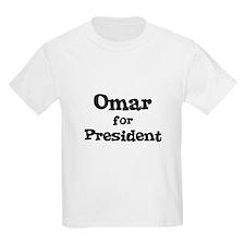 Omar for President Kids T-Shirt