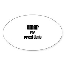 Omar for President Oval Decal