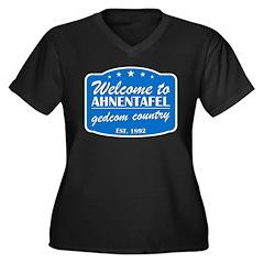Gedcom Country Women's Plus Size V-Neck Dark T-Shi