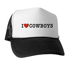 I Love Cowboys Trucker Hat