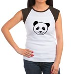 Panda Face Women's Cap Sleeve T-Shirt