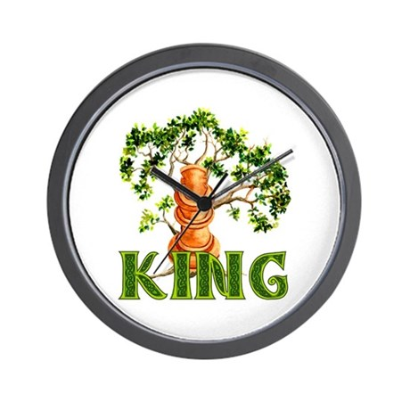 Pagan Chess King Wall Clock