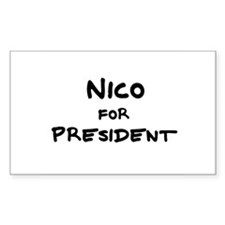 Nico for President Rectangle Decal