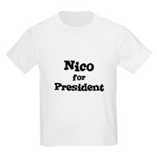 Nico for President Kids T-Shirt
