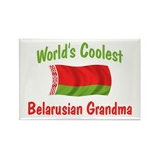 Coolest Belarusian Grandma Rectangle Magnet