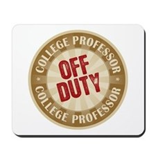 Off Duty College Professor Mousepad