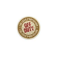 Off Duty College Professor Mini Button