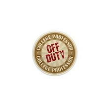 Off Duty College Professor Mini Button (10 pack)