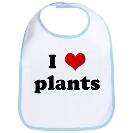 I Love plants Bib
