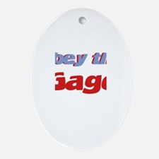 Obey the Gage Oval Ornament