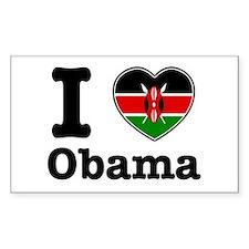 I love Obama Rectangle Decal