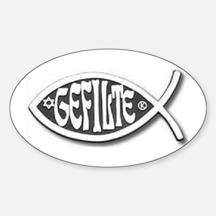 Great Gefilte Oval Decal