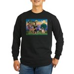 St Francis/Shar Pei #5 Long Sleeve Dark T-Shirt