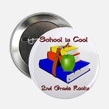 "School's Cool 2nd Grade Rocks 2.25"" Button"