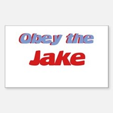 Obey the Jake Rectangle Decal
