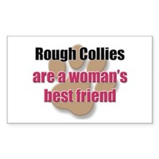 Rough Collies woman's best friend Decal