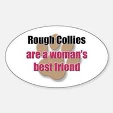 Rough Collies woman's best friend Oval Decal