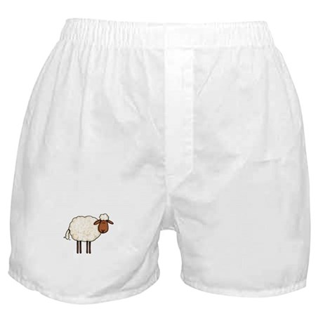 white sheep Boxer Shorts