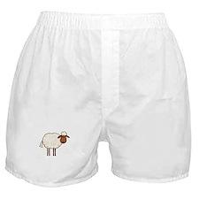 white sheep Boxer Shorts