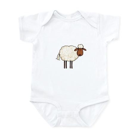 white sheep Infant Bodysuit