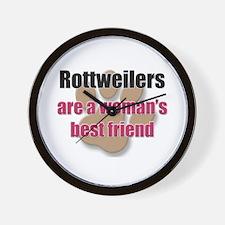 Rottweilers woman's best friend Wall Clock