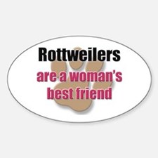 Rottweilers woman's best friend Oval Decal