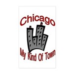 Chicago: My Kind Of Town Rectangle Sticker