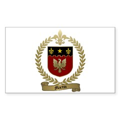 MARTIN Family Crest Rectangle Decal
