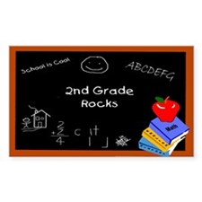 Chalk Board 2nd Grade Rectangle Decal