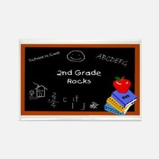 Chalk Board 2nd Grade Rectangle Magnet (10 pack)