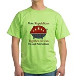 Patriotic Pig Green T-Shirt